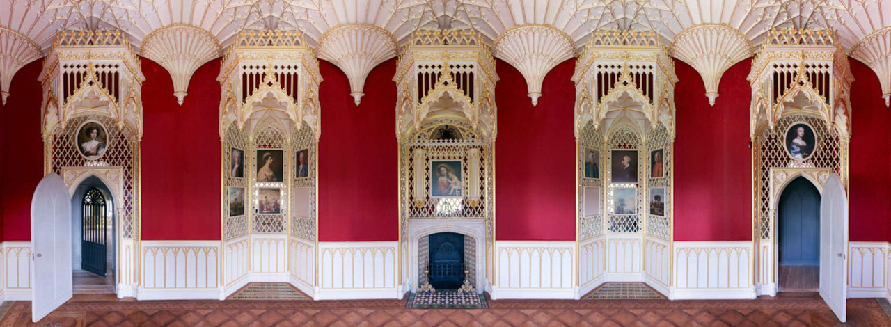 Strawberry Hill House, Long Gallery, unseen view