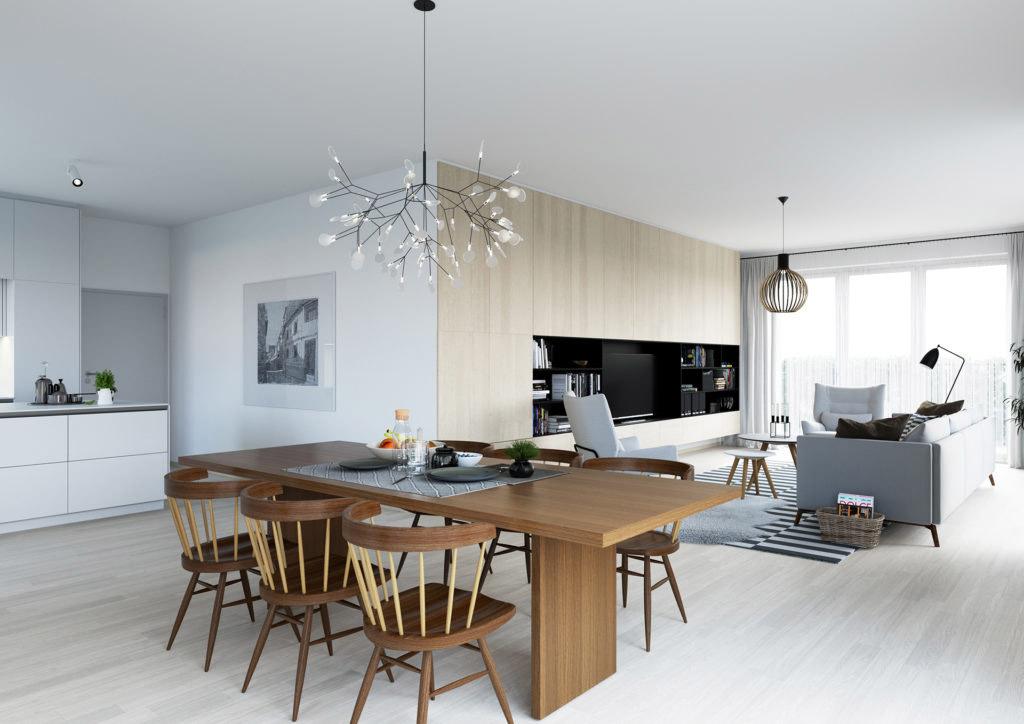 Návrh interiérového designu, projekt Port Karolina, klinet Skanska