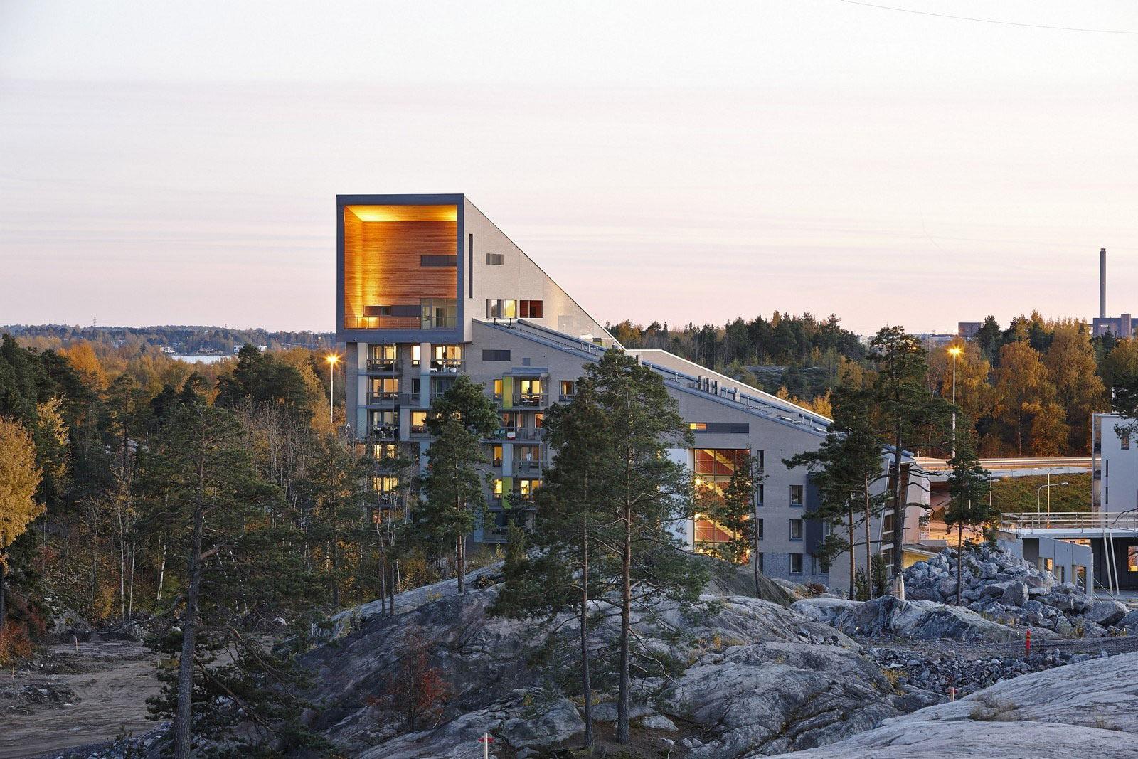 Bytový dům Helsinki, architekt Arkkitehdit Hannunkari & Mäkipaja Architects, Foto Mikael LInden