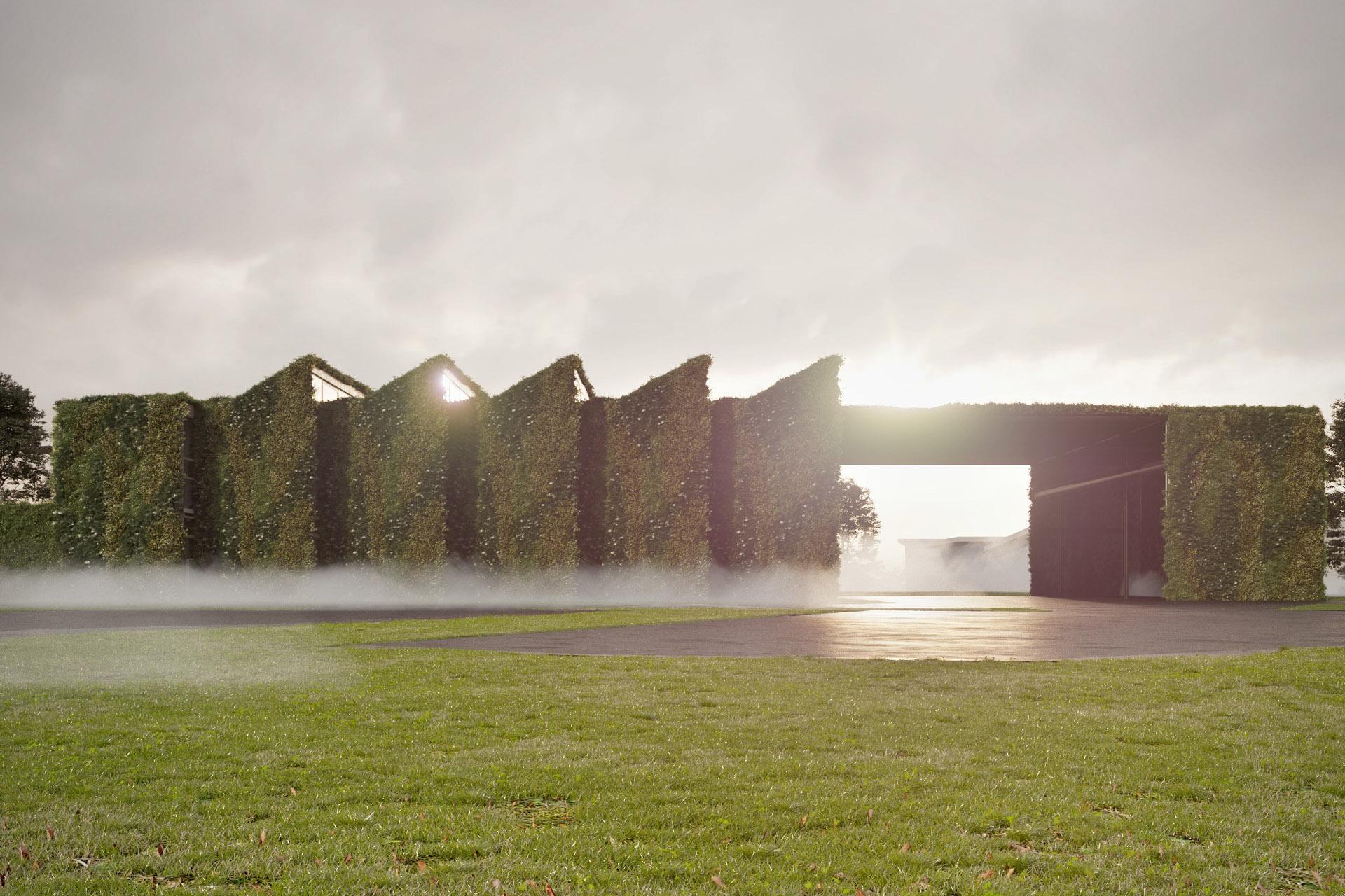 Vizualizace projektu zelené výrobní haly LIKO-S.