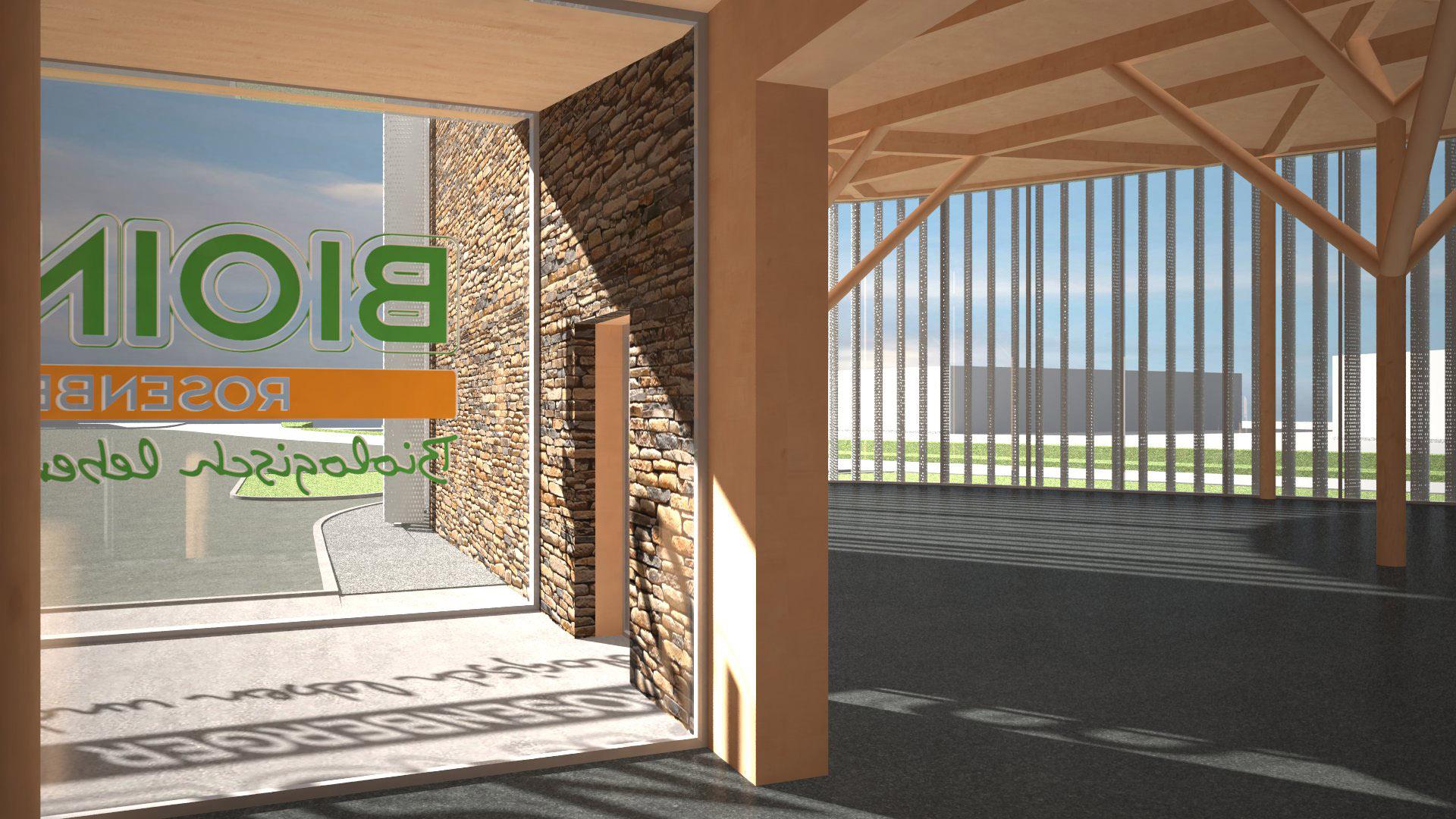 VIZUALIZACE OBCHOD BIOINSEL ve městě WEIZ - projekt od Kaltenegger und Partner Architekten, www.kupa.at, zahájení výstavby na podzim 2017