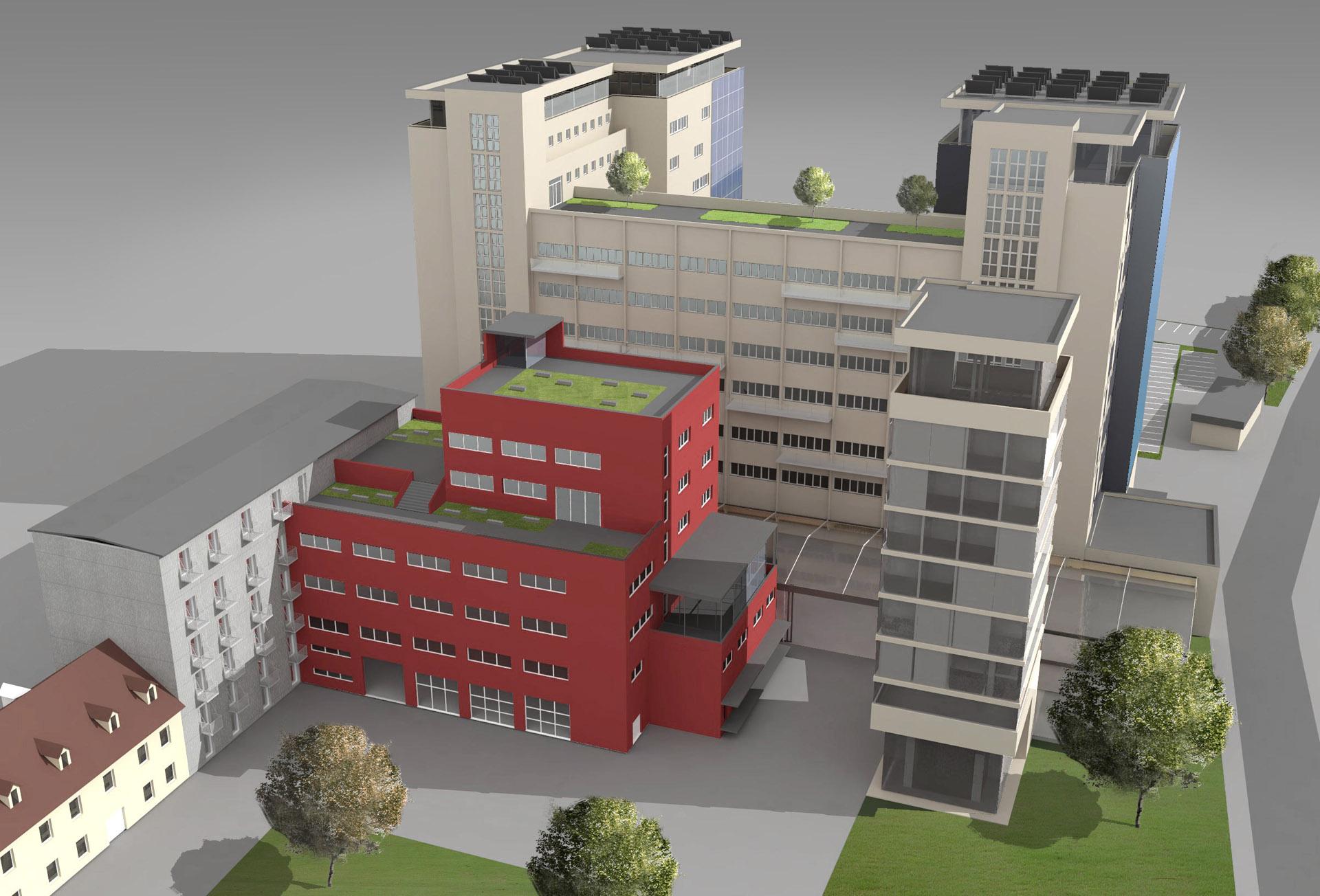 Vizualizace rekonstrukce industriálního komplexu Graz