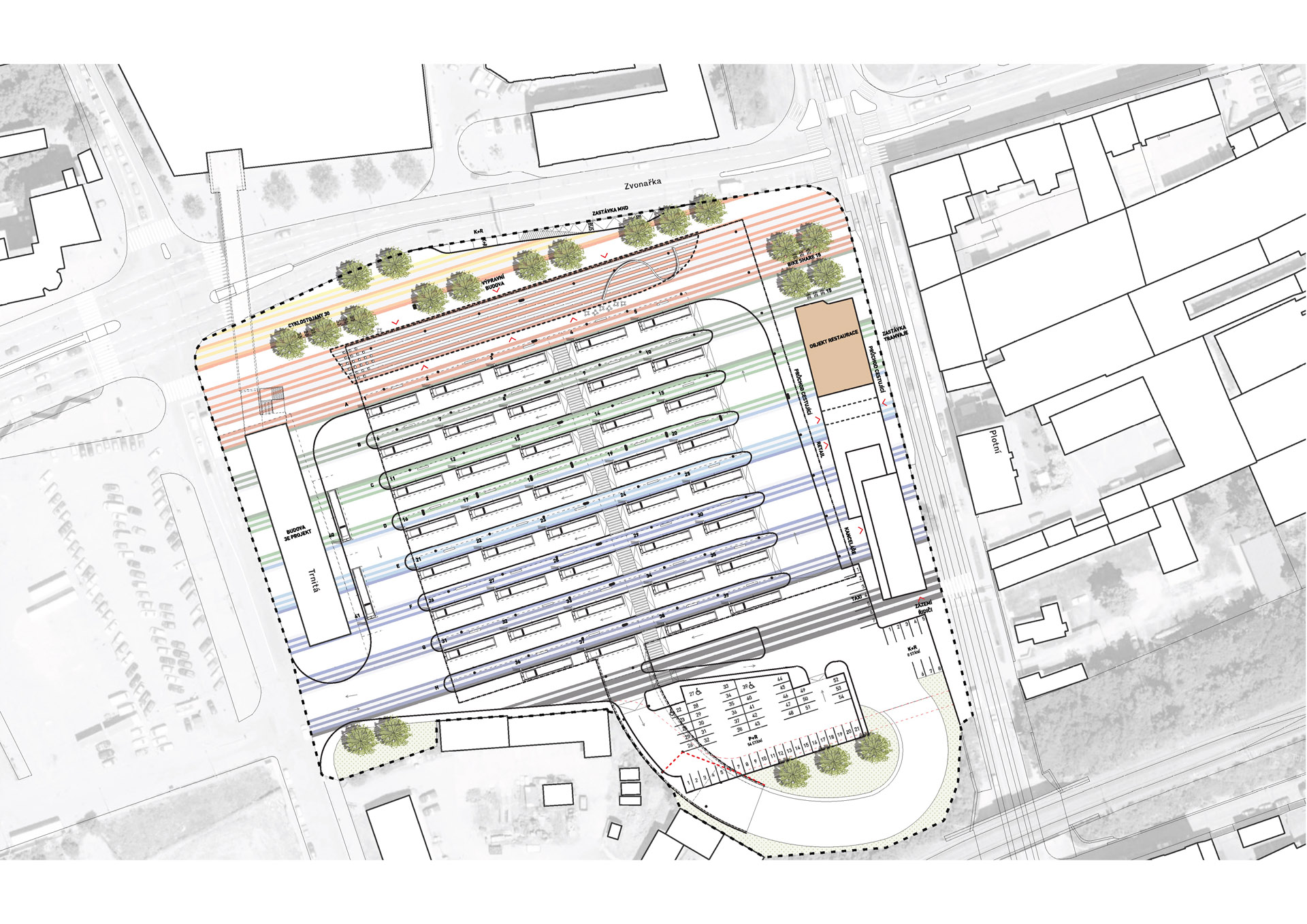 Chybik+Kristof Architects & Urban Designers_Zvonarka_situace